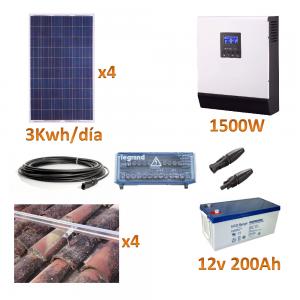 kit baterias gel 1500W